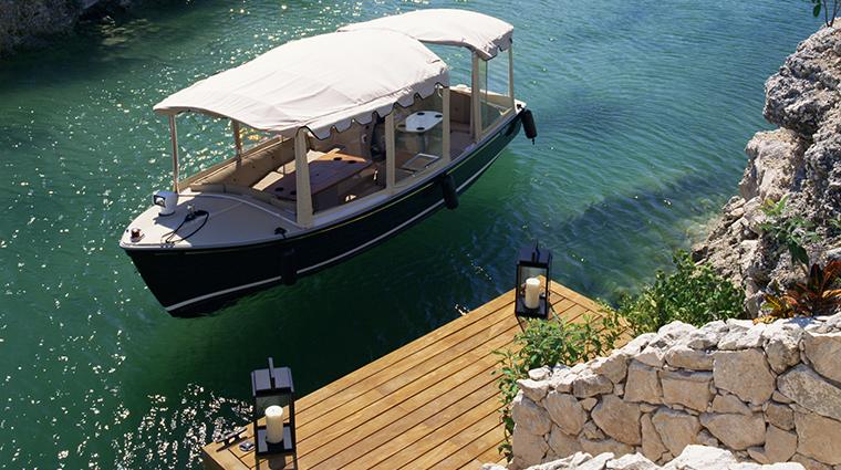 rosewood mayakoba arrival boat dock