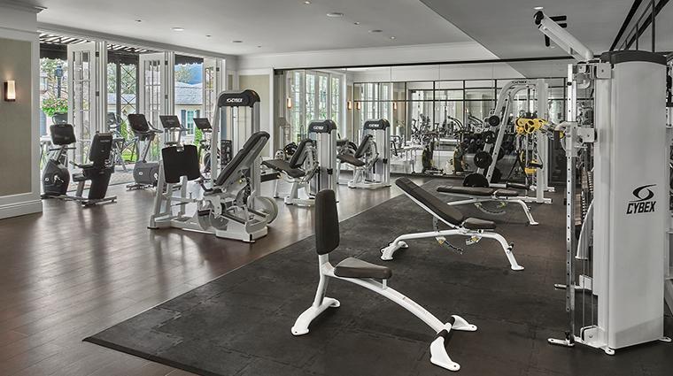 rosewood miramar beach fitness studio
