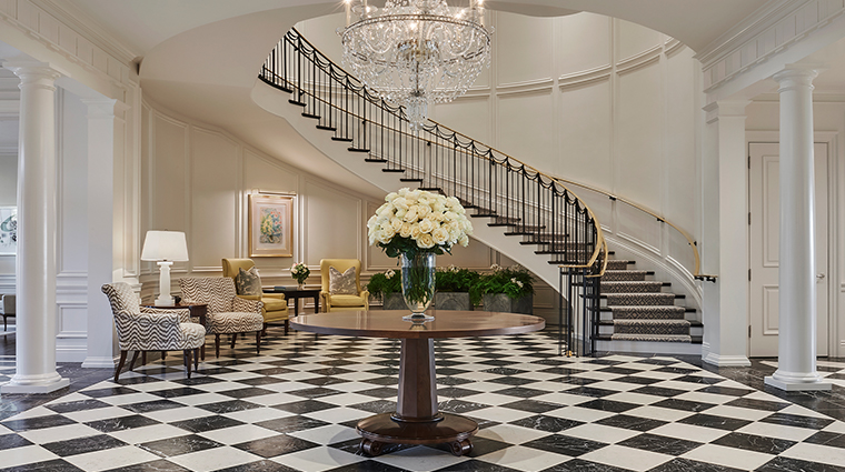 rosewood miramar beach manor house grand foyer