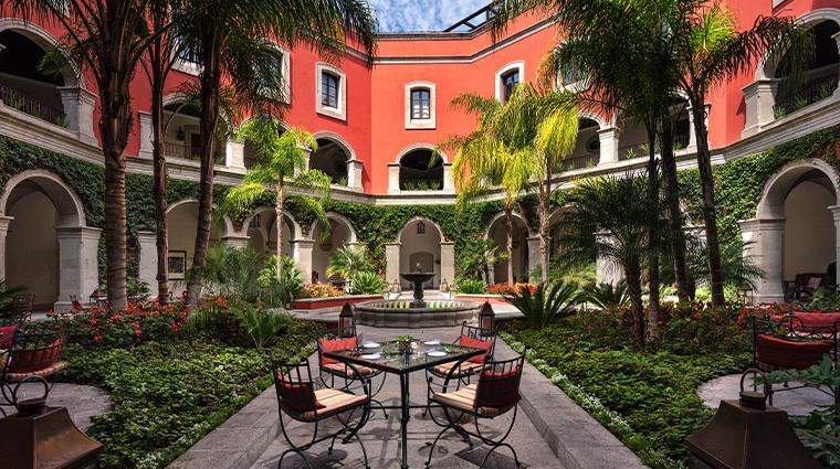 rosewood san miguel de allende courtyard fountain