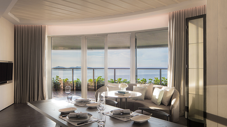 rosewood sanya ocean view dining area