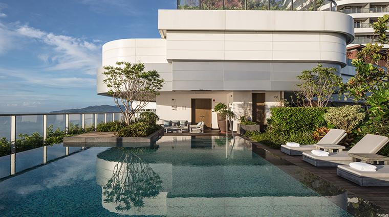 rosewood sanya ocean view pool