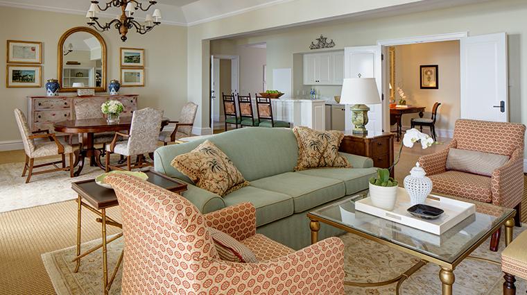 rosewood tuckers point Walsingham Suite Living Room