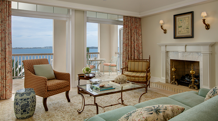 rosewood tuckers point villa suite living room