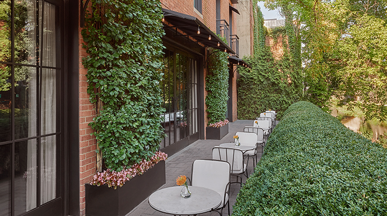 rosewood washington dc cut restaurant patio