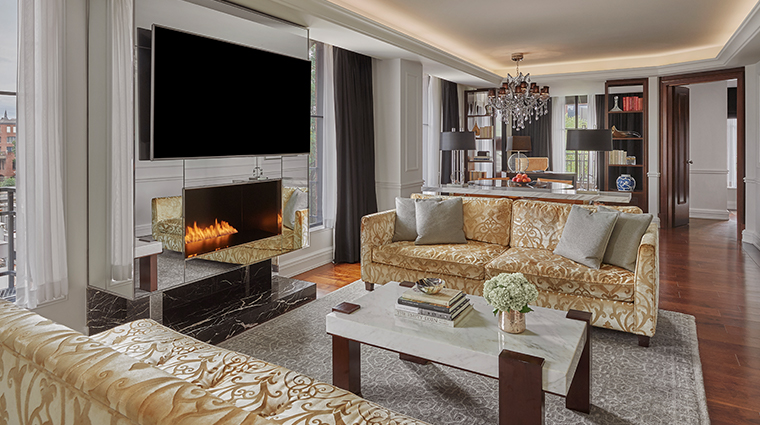 rosewood washington dc presidential suite living room