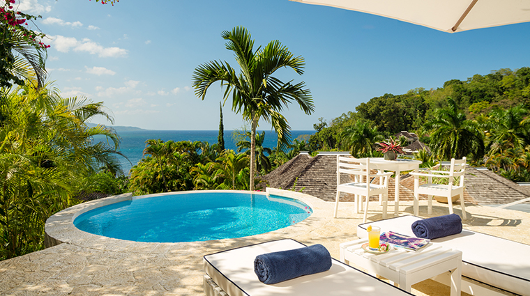 round hill hotel and villas villa suite private plunge pool