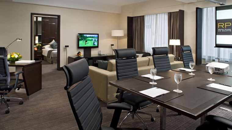 royal plaza on scotts singapore hotel corporate suite dining rooom