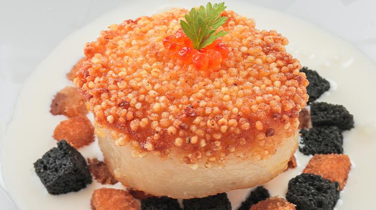 run pan fried japanese scallop