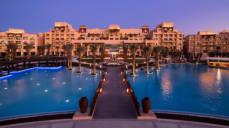 saadiyat rotana resort and villas exterior night
