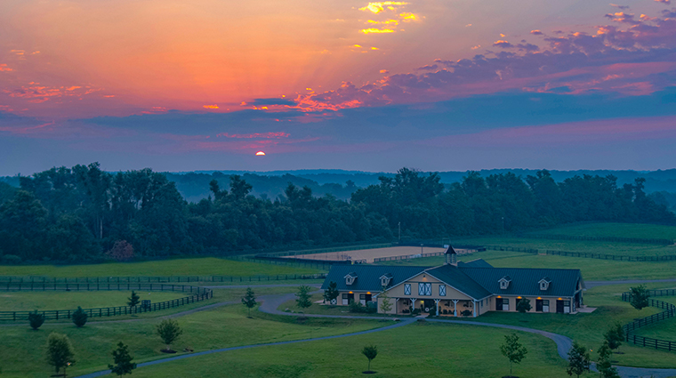 salamander resort spa sunset