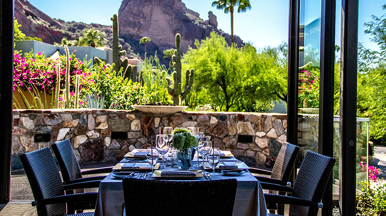 sanctuary on camelback mountain resort spa praying monk view