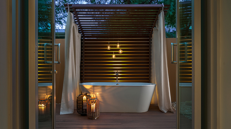 The Sanctuary Spa suite tub