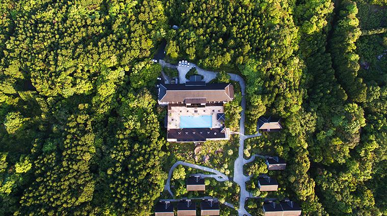 sankara hotel spa yakushima aerial