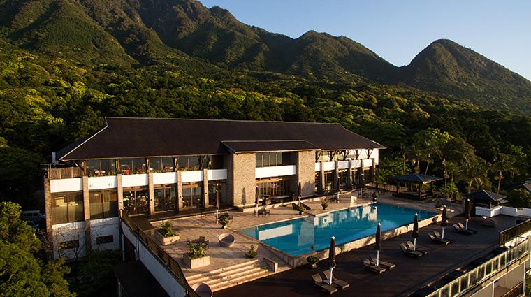 sankara hotel spa yakushima exterior sunset