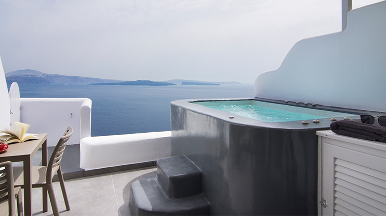 santorini secret suites spa pure suite outdoor