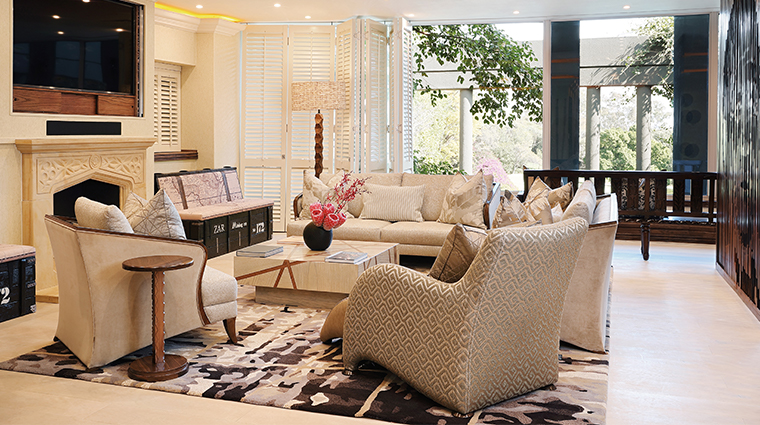 saxon hotel villas and spa nelson mandela platinum suite living room