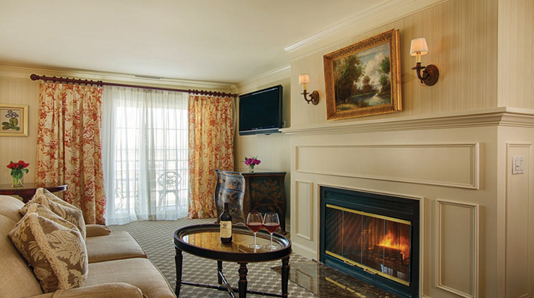 saybrook point inn marina spa suite with fireplace