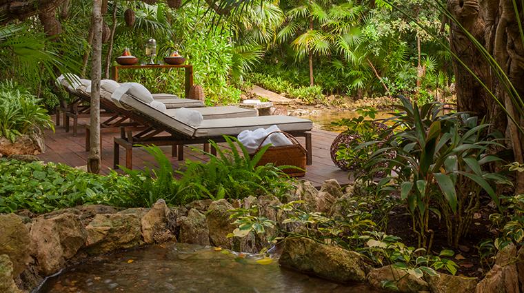 sense a rosewood spa at mayakoba cenote deck