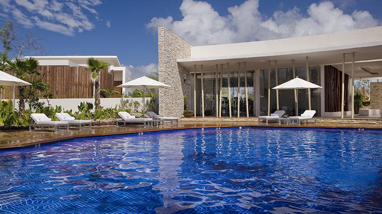 sense a rosewood spa at mayakoba swimming pool