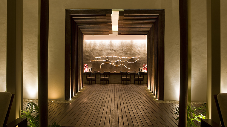 sense a rosewood spa at mayakoba treatment area entrance