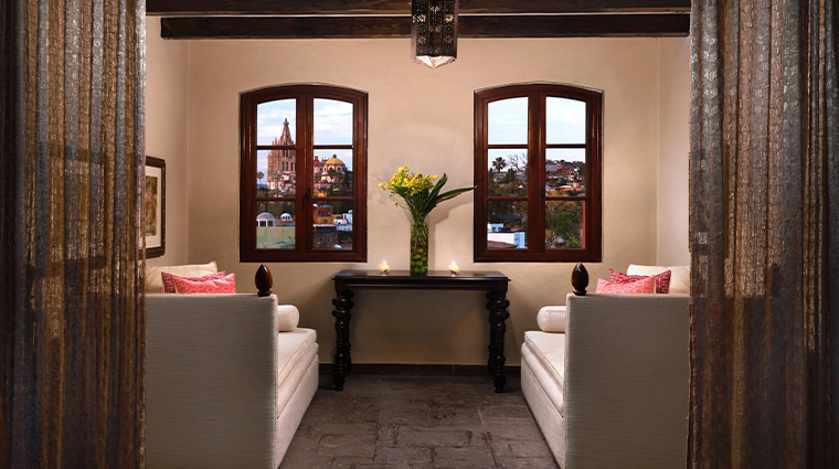 sense a rosewood spa at san miguel de allende sitting area and view
