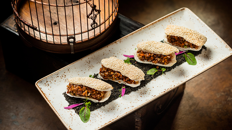 shanghai magic Stir fried Minced Duck on Northern Style Sesame Pastry