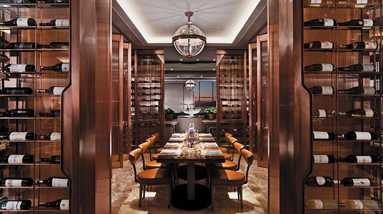 shangri la bosphorus istanbul dining room wine