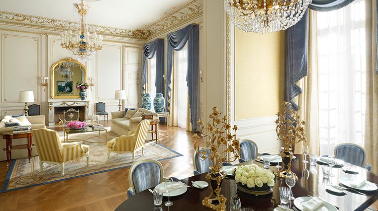 shangri la hotel paris LAppartement Prince Bonaparte living area