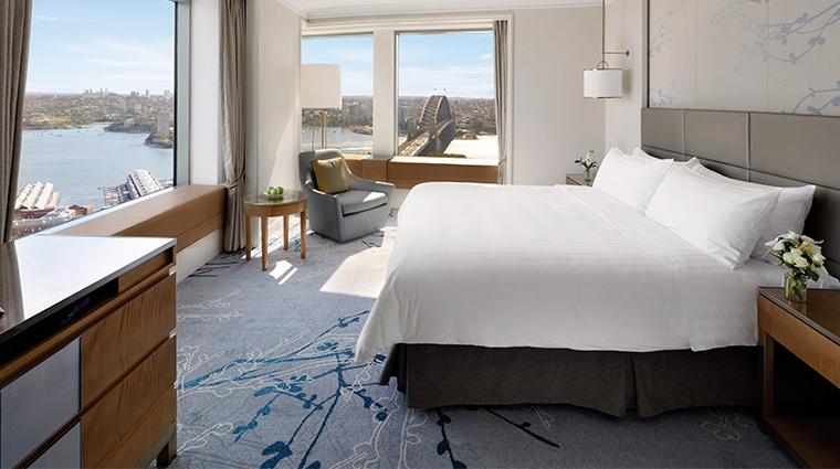 shangri la hotel sydney harbour suite bedroom