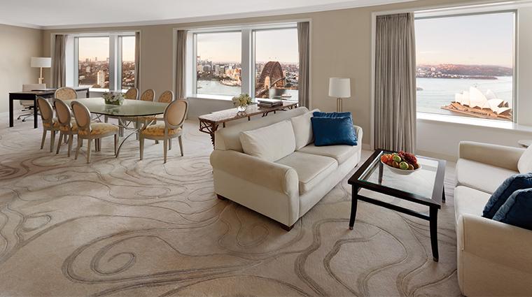 shangri la hotel sydney presidential suite living room view