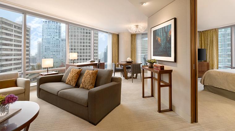 shangri la hotel vancouver deluxe one bedroom