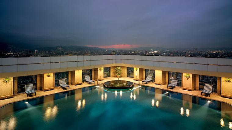 shangri las far eastern plaza hotel taipei rooftop swimming pool