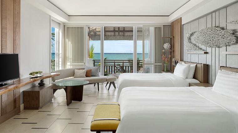 shangri las le touessrok resort and spa Junior Suite Frangipani Club twin