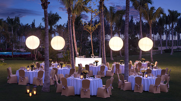 shangri las sanya resort spa hainan outdoor event