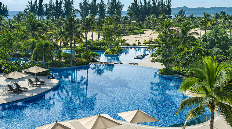 shangri las sanya resort spa hainan pool