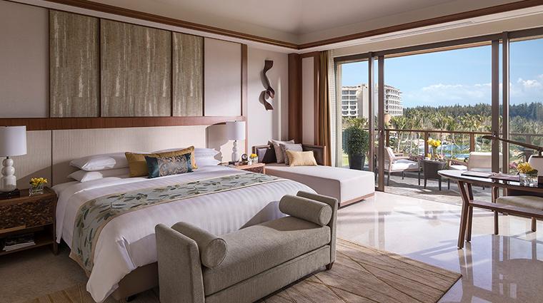 shangri las sanya resort spa hainan villa master bedroom