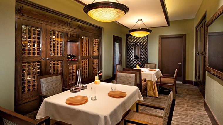 sheraton grand at wild horse pass Kai wine room