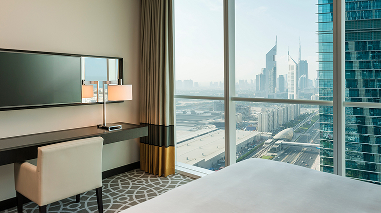 Sheraton Grand Hotel Dubai deluxe one bedroom apartment