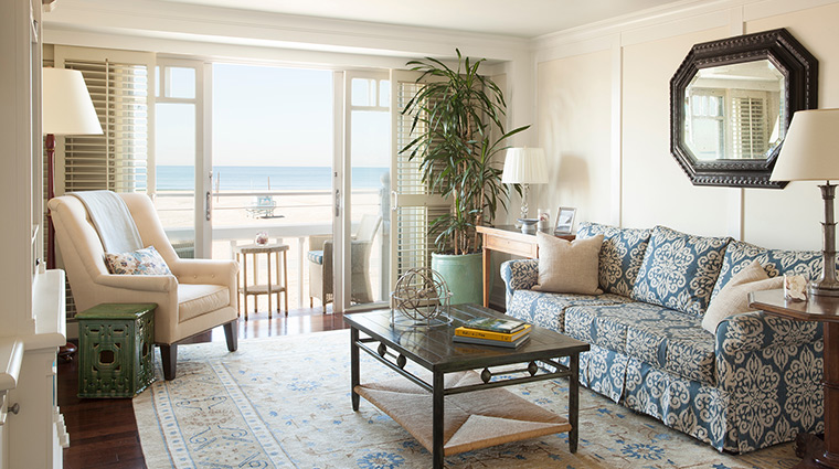 Shutters living room beach
