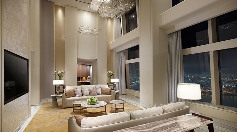 signiel seoul royal suite living room