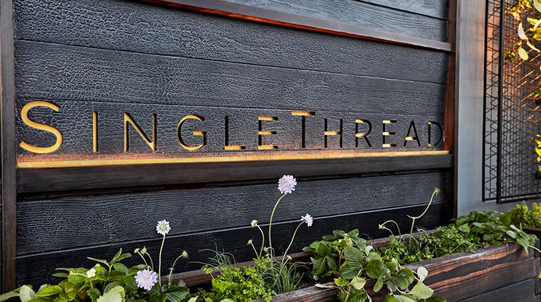 single thread farms restaurant sign