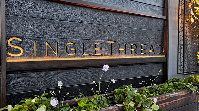 single thread farms restaurant sign