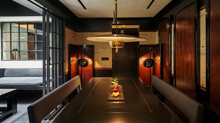 six senses duxton skylight suite dining room
