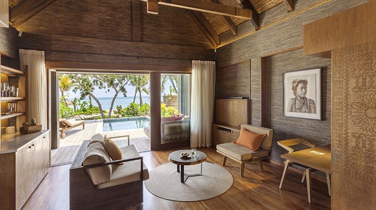 six senses fiji beachfront living room