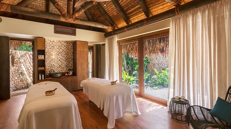 six senses fiji spa double treatment room