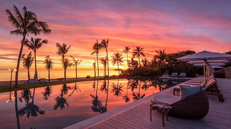 six senses fiji tovolea sunset