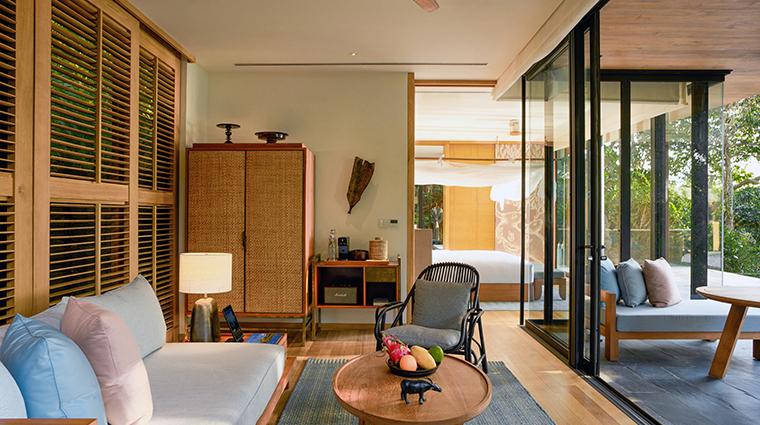 six senses krabey island hideaway pool villa suite living room