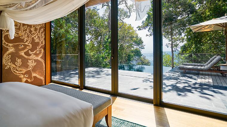 six senses krabey island ocean pool villa view