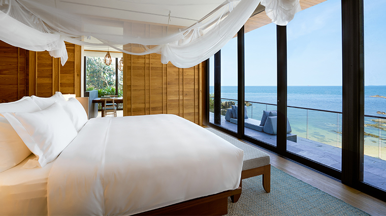 six senses krabey island the beach retreat bedroom